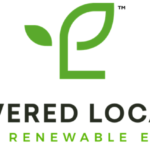 The Powered Locally logo is made up of two leaves on one stem. The letters L and P are integrated into the design.
