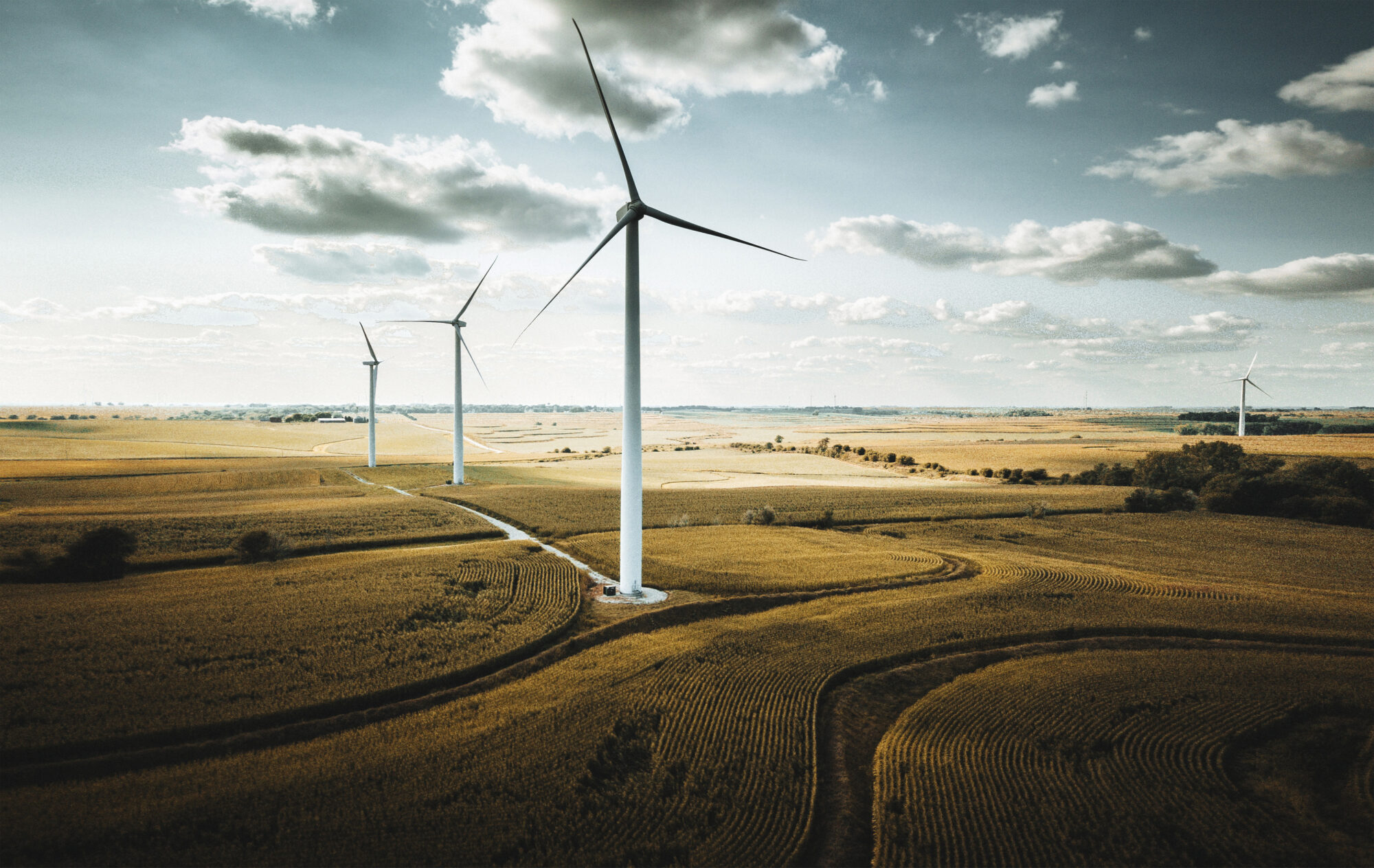 Picture of one of Bluestem's recently completed wind farms.